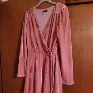 Pinkney velour style wrap dress medium
